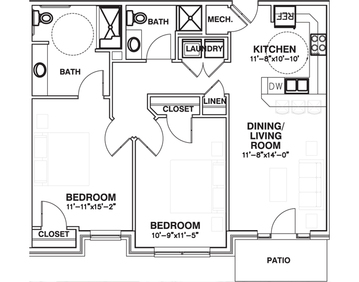The Landing 2 bed (ADA)