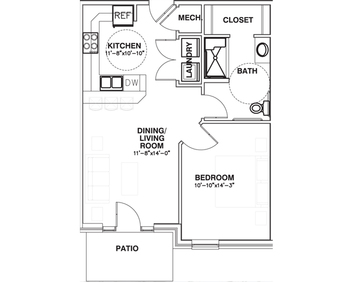 The Landing 1 bed (ADA)